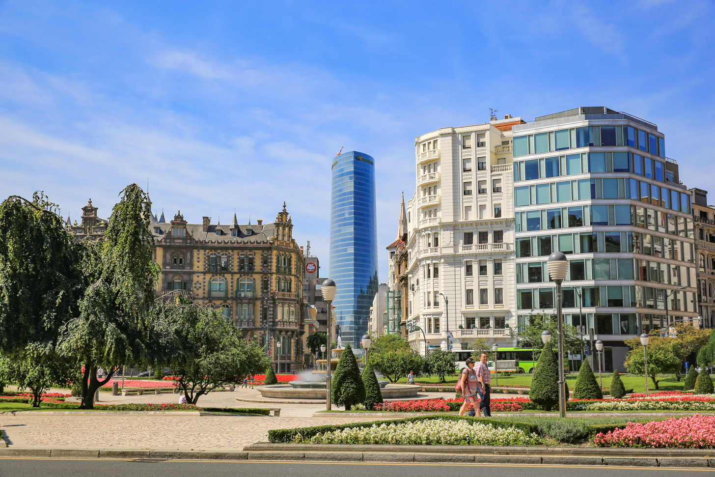 Een stukje modern Bilbao.